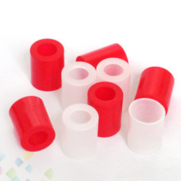 Wholesale Disposable Cover Caps - Wide Bore Silicone Mouthpiece Cover Drip Tip Disposable Rubber Test Tips Cap Tester For Atlantis Arctic Subtank Atomizers DHL Free