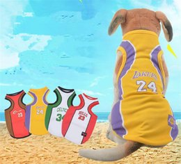 Wholesale pet supplies clothes - 4 colors dog clothes mesh vest Pet clothing supplies dog basketball vest xs-6xl G007