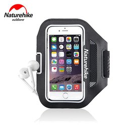 Wholesale Running Reflective Bands - Wholesale-5 5.5inch Naturehike Reflective Running Bag Sport Case Bag For iPhone 6 Plus Waterproof Arm Band Phone Bag Ultralight 4 Colors