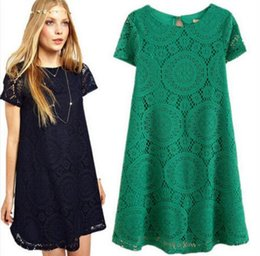 Wholesale Summer Shorts For Ladies - Ladies Womens Floral Summer Sexy Lace Casual Short Party Evening Cocktail Mini Dress Casual Dresses Short Sleeves A-line Dresses For Womens