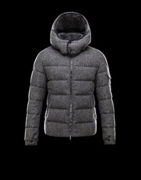 Wholesale Jackets Hoods For Men - Brand top quality 2017 Mens Duck Down Jackets Demin With Big Hood Warm Down Coat for men Plus Size Warm Thick Parka Grey Color Wholesale New
