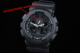 Wholesale Waterproof Watch Date - Original Color All Function ga100 Led Army Military Shocking Watches Mens Waterproof Watch all pointer work Digital G Sports Wristwatch
