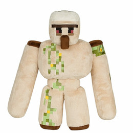 Wholesale Sword For Kids - 2017 NEW Minecraft Plush Action Figure Toys 36CM Minecraft Iron Golem Sword Pickaxe Stone Bed Box Model Toys Kids Toys For Gift