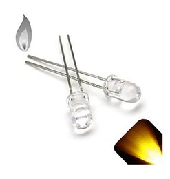 Wholesale Through Hole - Water Clear Through Hole 5MM Yellow Candle Flickering LED Diode Light beads