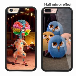 Wholesale Apple Plastic Effect - Half Mirror Effect Cartoon For Apple Iphone 7 7 Plus Case Original Hybrid Cases For Iphone 6 Plus Phone Back Covers 4.7'' 5.5''