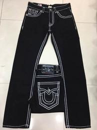 Wholesale Stud Men - Free Shipping True High quality new Men's Robin Rock Revival Jeans Crystal Studs Denim Pants Designer Trousers Men's size 30-40