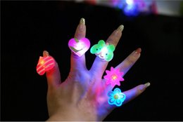 Wholesale Silicone Led Light Set - Soft rubber Ring Luminous LED Rings Emitting Products LED Flashing Light Ring Party Disco Finger Lights Halloween Christmas Festival Light