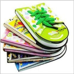 Wholesale Promotions Marketing - 2017 Hot!Promotion Send Randomly Cute Tie Shoes Scratch Pad Stationery Market Notes Nootbook Memo Pads Free Shipping