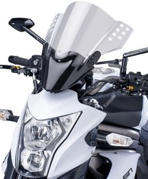 2019 kawasaki ninja pára-brisas Pára-brisa de corrida de motocicleta para KAWASAKI ER6N 2012 2013 2014 2016 ER-6N 12 13 14 15 16 WindScreen Fluxo de ar Wind Flyscreen Deflector Protection
