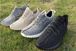 Wholesale Women Tennis Tops - Boosts 350 Top Quality 350 Boosts with Double Box Discounted 350 Boost Pirate Black Moonrock Oxford Tan Turtle Dove Gray with Receipt Socks