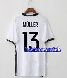 Wholesale Germany Wear - Plus 4XL 2017 2018 Germany OZIL MULLER GOTZE HUMMELS KROOS BOATENG REUS Soccer Wear jerseys thai quality soccer jersey football shirts