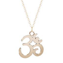 Wholesale gift jewlery - 10pcs lot New Fashion Gold And Silver Pendant Yoga OM Necklace Choker Charm Handmade Statement Jewlery