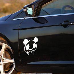 Wholesale panda car sticker - 1PC 14*13cm High Quality Panda Skull Zombie Sticker Panda Vinyl Decal Car Stickers Evil Dead Car Sticker Reflective Car Styling