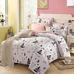 Wholesale Twin Cotton Quilts - Wholesale-Cotton Kids Bedding set,Cartoon White Duvet cover set Child Bedclothes,NO PILLING,Contain 1 Quilt cover 2 Pillowcase#DP15