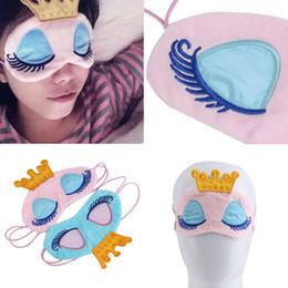 Máscara de fantasía online-Gafas de dormir Crown Princess Fantasy Fantasy Eyes Cover Travel Sleeping Eye Blindfold Shade Eye Mask