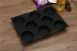 Wholesale Silicone Loaf Moulds - 1 PCS 8 Loaves Non Stick Silicone Baking Mold Perforated Bun Bread Mould Top New