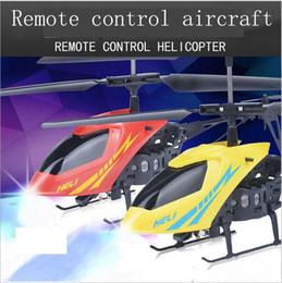 Nova Versão Mini RC Radio helicóptero 3.7V Remote Control Aircraft 3D 2.5 Canal Drone Copter Com Gyro e luzes de Fornecedores de helicóptero de controle remoto 3,5 canais