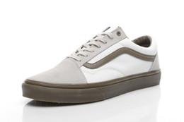 Wholesale Mens Hi Tops White - Original VAN Classic Old Skool High Top Canvas Shoes Sk8 Hi White Black Red Brand Women And Mens Skateboarding Casual Shoes
