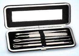 2019 kit removedor de la espinilla AC010 5 UNIDS Kit de aguja de eliminación de acné con caja Removedor de espinilla Tratamiento para el acné Comedone Extractor Herramientas de eliminación de espinilla Limpiador facial kit removedor de la espinilla baratos