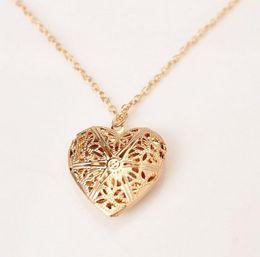 Wholesale Woman Heart Sweater - Wholesale-Newly Fashion Women Hollow Gold Silver Heart Pendant Long Chain Necklace Sweater Necklace With Pendant For Women