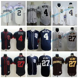 johnny manziel jerseys Promotion 2017 Base de Jersey de Baseball de San Diego Padres Base 4 Wil Myers 27 Matt Kemp 2 Base de Base de Flex Jersey Johnny Manziel