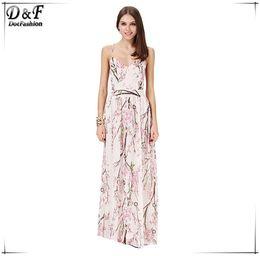 Wholesale Empire Plum - Big sexy backless beach dress is plum blossom cross with Bohemian chiffon floral dress