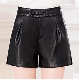 Wholesale High Waisted Black Short Pants - Women's Shorts High Waisted Hot faux leather Pants shorts women