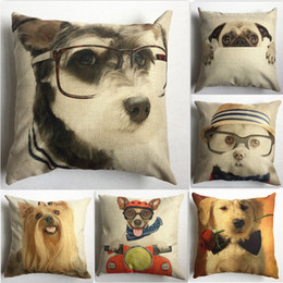 Wholesale Dog Cases Covers - muchun Brand Christmas Pillow Case Cute Dog Style 45*45cm Thicken Decorative Reversible Throw Pillow Cover for Wholesale