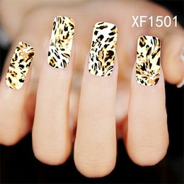 Wholesale Leopard Wraps - Can Mix Design Water Transfer Nails Art Sticker Decals Flower Plaid Leopard Mosaic lady women manicure tools Nail Wraps Decals