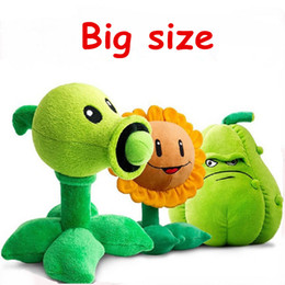 Wholesale Plants Vs Zombies Squash Plush - Wholesale- 1 PCS 30cm Kawaii Plants vs Zombies Plush Toys Pea Shooter Sunflower Squash Soft Stuffed Toys Doll Kids Toys for children