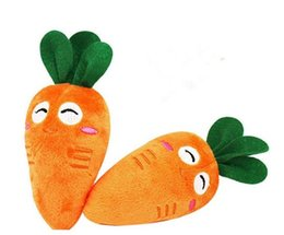 Wholesale Dog Plush Cotton Rope - Funny Puppy Pet Supplies Vegetables Carrot Plush Sound Squeaky Chew Squeaker Dog Toys
