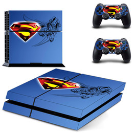 Wholesale man decals - Hot Seller Skin Decal Stickers for PlayStation 4 Console +Controllers--Super Man(1416)
