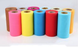 "Wholesale Spools Tulle Wholesale - TULLE Roll Spool 6"" x 25Y Tutu Wedding Gift Bow Craft Bridal Decorating 22 color 10 p"