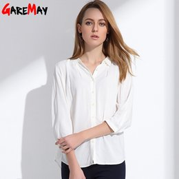 Wholesale Clothing Dolls - 2017 Spring Blouses Women Females Loose Three Quarter Sleeve Doll Collar Lapel Bottoming Women's Shirts Blouses Blusas Clothing