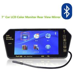 Yeni HD 7 Inç LCD Renk 1024 * 600 Dikiz Aynası Monitör Bluetooth FM USB SD MP5 Monitör 2 AV, ücretsiz Kargo nereden moda hip hop kızlar tedarikçiler