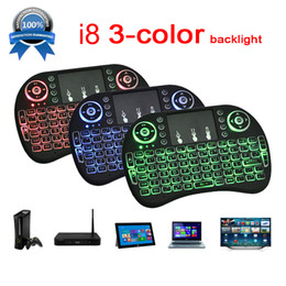 Wholesale Mini Touch Pad Keyboard - Mini Keyboard Backlit Mouse Multi-touch Pad 2.4G Rii i8+ Wireless Game Keyboard Fly Air Mouse Remote for MXQ Andriod TV Box IPTV