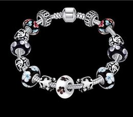 Wholesale Silver Chain Weights - 20CM Gift!!! 925 Silver Heart Charm Bracelets & Bangles Crystal&Glass Beads Bracelets for Women Pulsera DIY Jewellery Weight: 45.00 G