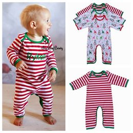d3db3fae28a4 2017 fall winter christmas kids pajamas onesie long sleeve rompers toddler  girl jumpsuits baby boutique clothing pyjamas sleepwear boys pjs