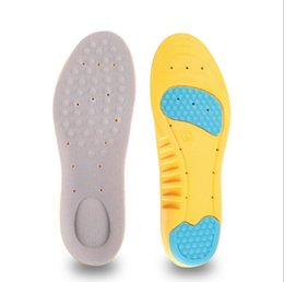 Wholesale Foam Insoles Shoes - 100pairs Wholesale PU Insole Cushioning Inserts Memory Foam Sports Insoles Athletic Shoe Pads