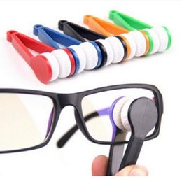 Wholesale Microfibre Glass Cloths - 2017 Best Selling Lens Microfibre Cleaner Glasses Spectacles Essential Eyeglasses Cleaning Cloth Tool