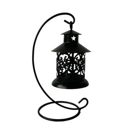 Wholesale lantern tea light holders wholesale - classic Metal cheap souvenir small candle holder house Tea Light Holder Wedding decoration Iron lantern Black color Candle Holder