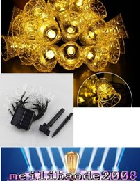 Wholesale Puzzle House - 4.8m 20 Led Bells LED Solar String Fairy Light Puzzle Lights To Decorative Court Yard Garden House During Festival Christmas Holiday MYY