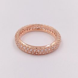 Wholesale Black African American - Rose Gold Plated & 925 Sterling Silver Ring Inspiration On Within Ring European Pandora Style Jewelry Charm Ring Gift 180909CZ