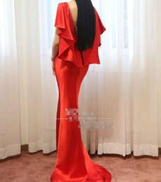 Wholesale Simple Dresses For Pageants - High quality real sample backless burgundy Evening dresses 2017 Formal Dresses Party Pageant Gowns Celebrity Prom dress for evening