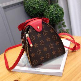 Wholesale Rivets Clutch - Luxury Handbag Women Crossbody Bag PU Leather Shoulder Vintage Floral Lantern Purses Totes Shell Designer Handbags High Quality Clutch