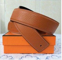 Wholesale Wholesale Designer Mens Belts - Wholesale- Leather Designer Mens Belts womens men luxury belts luxur brands belts Gold Buckle Silver Buckle h Ceinture Homme men designer