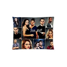 Wholesale Cheap Hotel Pillows - Wholesale- Pillow Case Cheap Unique Pillowcase Fashion Hot Teen Wolf Dylan O'Brien Reed Pattern Custom Square Zippered Throw Pillow Cover