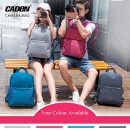 "Wholesale Caden Bags Dslr - CADeN DSLR Camera Bag Video Photo Digital Camera Backpack Waterproof Laptop 14"" School Travel Bag For Dslr Canon Nikon Sony L5"
