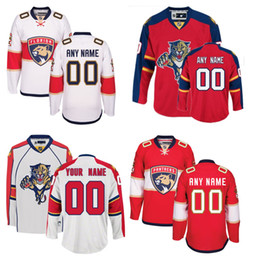Wholesale Cheap Custom Hockey Jersey - Lowest Price ! Customized Florida Panthers Jerseys Red White Custom Ice Hockey Jerseys cheap Stitched Any Name Number Size M-XXXL