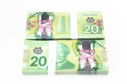 Wholesale C Arts - 100PCS Lot CAD C$20 Canada Movie Props Money Bank Staff Training Learning Banknotes Home Holiday Decoration Arts Collectible Gifts